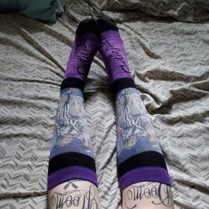 BEETLEJUICE knee high socks